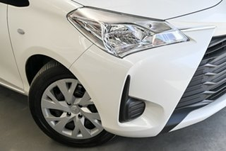 2019 Toyota Yaris NCP130R Ascent Pearl White 4 Speed Automatic Hatchback.