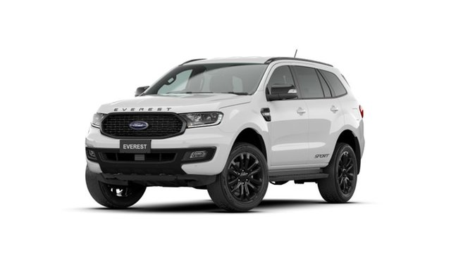 New Ford Everest UA II 2021.25MY Sport Port Adelaide, 2020 Ford Everest UA II 2021.25MY Sport Arctic White 6 Speed Sports Automatic SUV