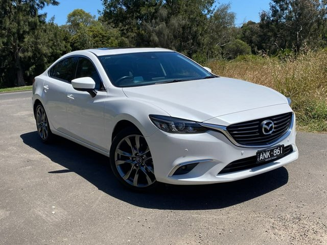Used Mazda 6 GT Geelong, 2017 Mazda 6 GL Series GT White Sports Automatic Sedan