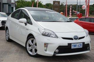 2014 Toyota Prius ZVW30R MY12 I-Tech White 1 Speed Constant Variable Liftback Hybrid.