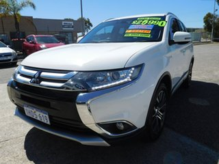 2016 Mitsubishi Outlander ZK MY17 LS 4WD White 6 Speed Constant Variable Wagon