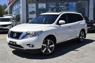 2015 Nissan Pathfinder R52 MY15 Ti X-tronic 4WD White 1 Speed Constant Variable Wagon.
