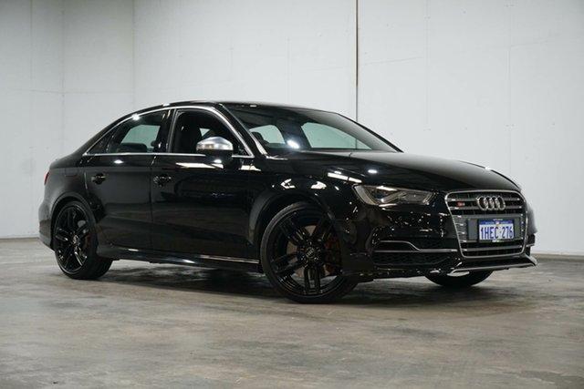 Used Audi S3 8V MY16 S Tronic Quattro Welshpool, 2016 Audi S3 8V MY16 S Tronic Quattro Black 6 Speed Sports Automatic Dual Clutch Sedan