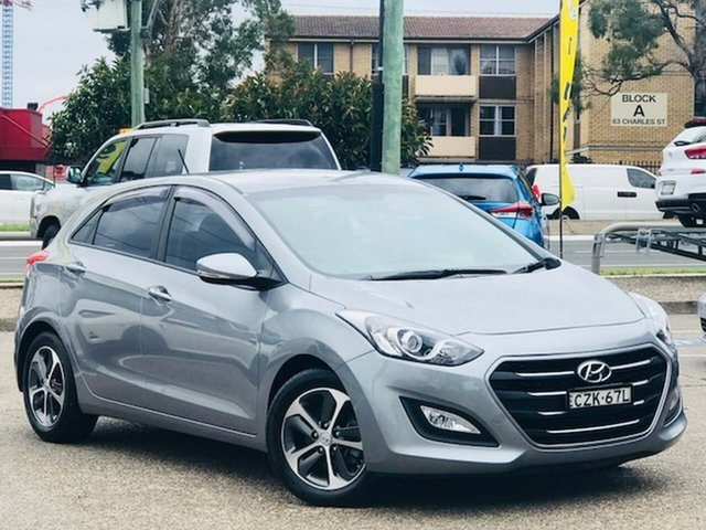 Used Hyundai i30 GD3 Series II MY16 Active X Liverpool, 2015 Hyundai i30 GD3 Series II MY16 Active X Hyper Silver 6 Speed Manual Hatchback