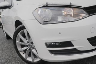 2013 Volkswagen Golf VII MY14 103TSI DSG Highline White 7 Speed Sports Automatic Dual Clutch.