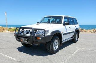 2004 Nissan Patrol GU III MY2003 ST White 5 Speed Manual Wagon.