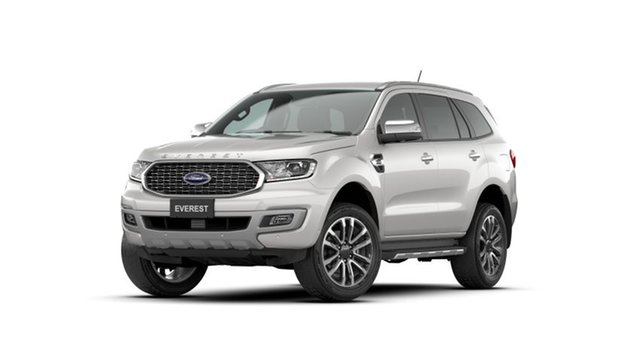 New Ford Everest UA II 2021.75MY Titanium Homebush, 2021 Ford Everest UA II 2021.75MY Titanium Alabaster White 10 Speed Sports Automatic SUV