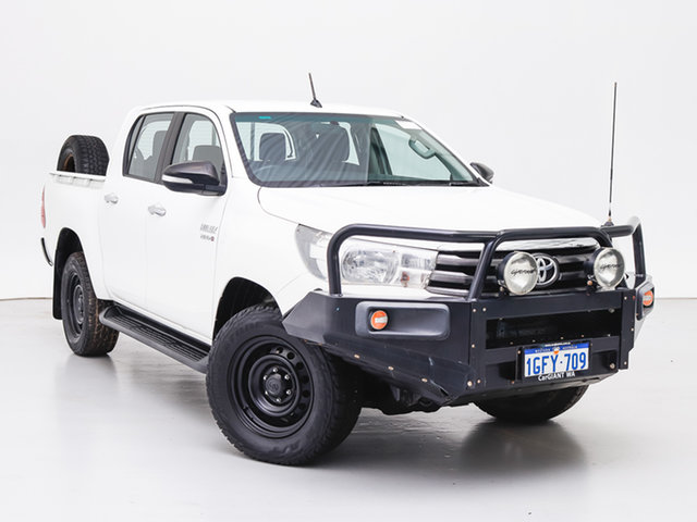Used Toyota Hilux GUN126R SR (4x4), 2017 Toyota Hilux GUN126R SR (4x4) White 6 Speed Manual Dual Cab Chassis