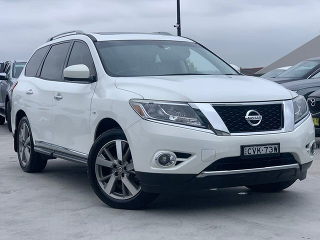 Used Nissan Pathfinder R52 MY14 Ti X-tronic 4WD Liverpool, 2013 Nissan Pathfinder R52 MY14 Ti X-tronic 4WD White 1 Speed Constant Variable Wagon
