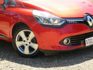 2013 Renault Clio IV B98 Expression EDC Flame Red 6 Speed Sports Automatic Dual Clutch Hatchback.