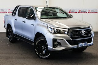2018 Toyota Hilux GUN126R Rogue Double Cab Silver Sky 6 Speed Sports Automatic Utility.