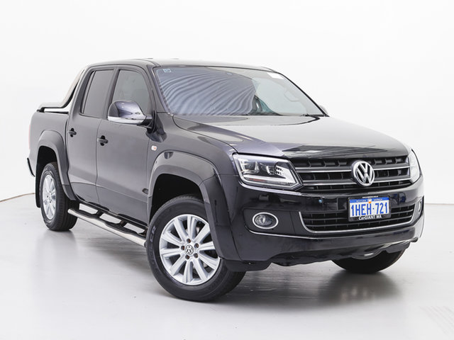 Used Volkswagen Amarok 2H MY16 TDI420 Highline (4x4), 2016 Volkswagen Amarok 2H MY16 TDI420 Highline (4x4) Black 8 Speed Automatic Dual Cab Utility