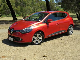2013 Renault Clio IV B98 Expression EDC Flame Red 6 Speed Sports Automatic Dual Clutch Hatchback