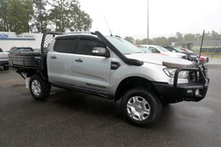 2017 Ford Ranger PX MkII Wildtrak Double Cab Silver 6 Speed Manual Utility.