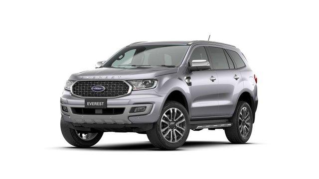 New Ford Everest UA II 2021.75MY Titanium Deer Park, 2021 Ford Everest UA II 2021.75MY Titanium Aluminium 10 Speed Sports Automatic SUV