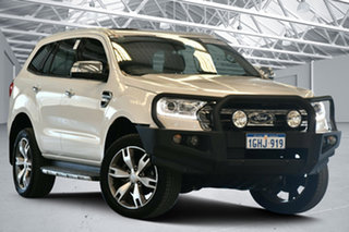 2017 Ford Everest UA MY17 Titanium Cool White 6 Speed Automatic SUV.