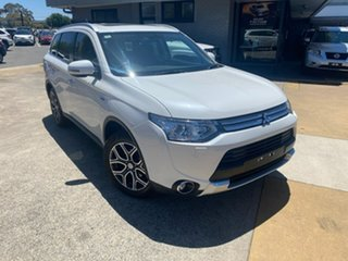 2014 Mitsubishi Outlander ZJ MY14.5 PHEV AWD Aspire White 1 Speed Automatic Wagon Hybrid.