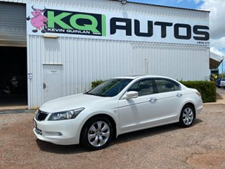 2008 Honda Accord 8th Gen VTi White 5 Speed Sports Automatic Sedan.
