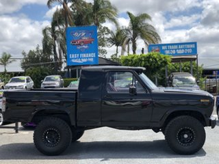 1981 Ford F100 F 4x4 Black 3 Speed Automatic Utility.
