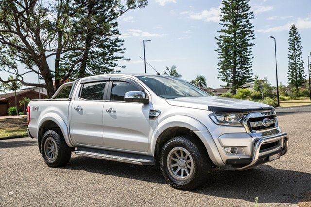 Used Ford Ranger PX MkII XLT Double Cab Port Macquarie, 2017 Ford Ranger PX MkII XLT Double Cab Ingot Silver 6 Speed Sports Automatic Utility