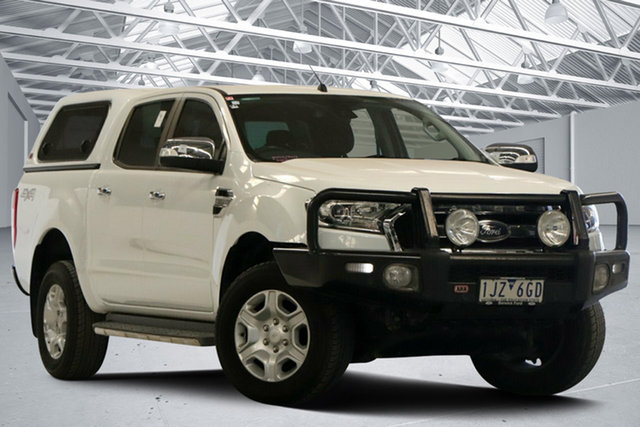 Used Ford Ranger PX MkII MY17 XLT 3.2 (4x4) Altona North, 2017 Ford Ranger PX MkII MY17 XLT 3.2 (4x4) White 6 Speed Automatic Double Cab Pick Up