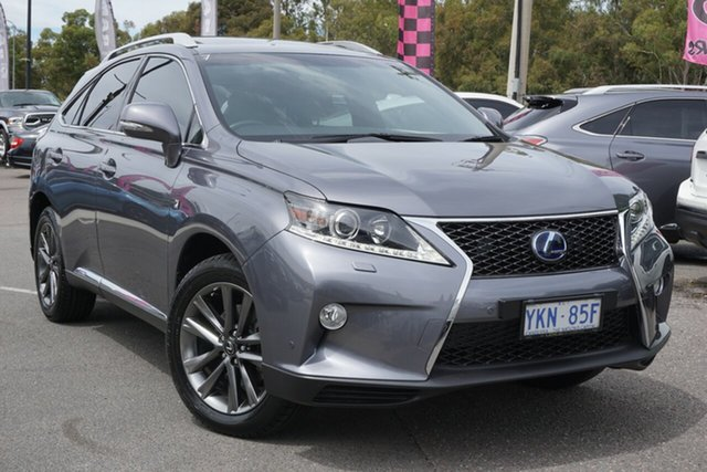 Used Lexus RX GYL25R RX450h F Sport Phillip, 2015 Lexus RX GYL25R RX450h F Sport Grey 6 Speed Constant Variable Wagon