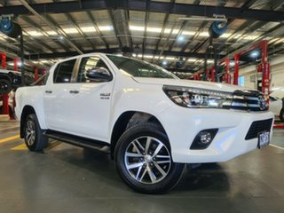 2018 Toyota Hilux GUN126R SR5 Double Cab White 6 Speed Manual Utility.