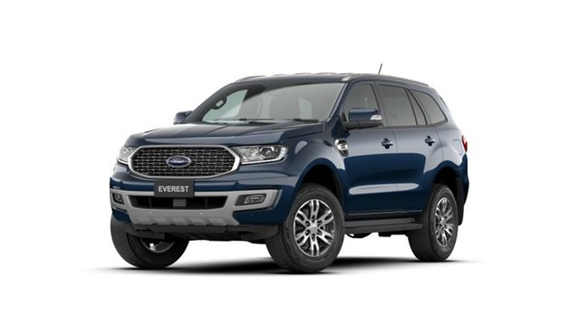New Ford Everest UA II 2021.25MY Trend Gympie, 2020 Ford Everest UA II 2021.25MY Trend Deep Crystal Blue 10 Speed Sports Automatic SUV