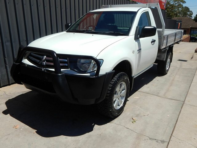 Used Mitsubishi Triton MN MY12 GLX Blair Athol, 2012 Mitsubishi Triton MN MY12 GLX White 5 Speed Manual Cab Chassis