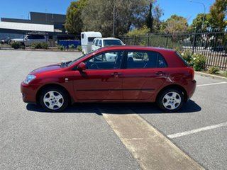 2006 Toyota Corolla ZZE122R 5Y Ascent Burgundy 4 Speed Automatic Hatchback