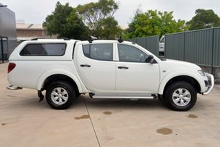 2015 Mitsubishi Triton MQ MY16 GLX Double Cab 4x2 White 6 Speed Manual Utility.