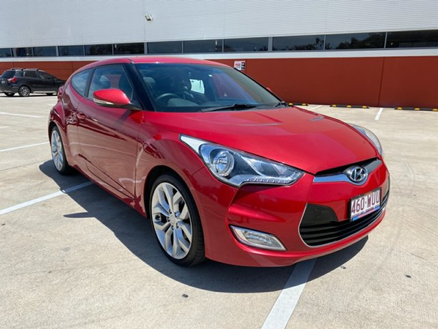 Used Hyundai Veloster FS Morayfield, 2011 Hyundai Veloster FS Red 6 Speed Auto Active Select Hatchback