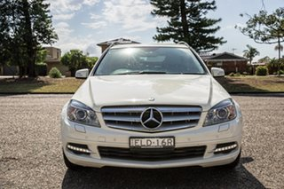 2010 Mercedes-Benz C-Class W204 MY10 C220 CDI Classic White 5 Speed Sports Automatic Wagon.