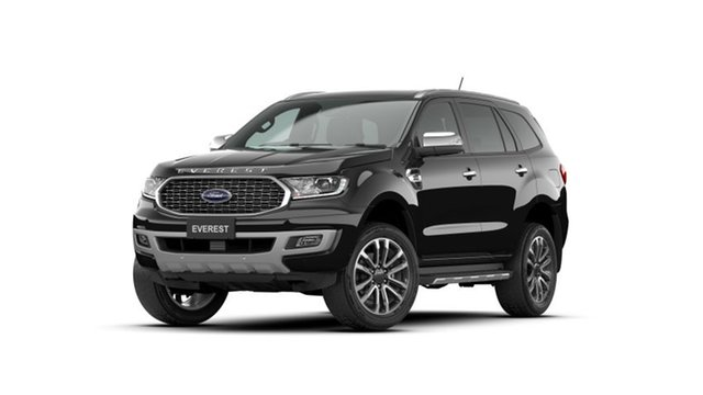 New Ford Everest UA II 2021.75MY Titanium Homebush, 2021 Ford Everest UA II 2021.75MY Titanium Shadow Black 10 Speed Sports Automatic SUV