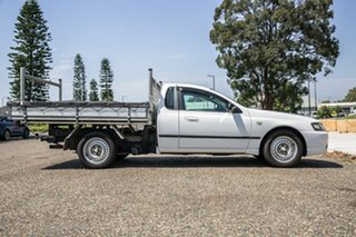 2008 Ford Falcon BF Mk II XL Super Cab White 4 Speed Sports Automatic Cab Chassis