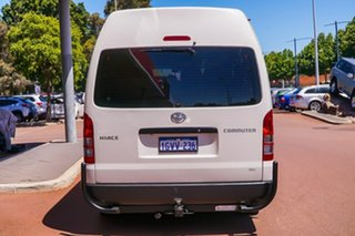 2015 Toyota HiAce TRH223R Commuter High Roof Super LWB White 6 Speed Automatic Bus.