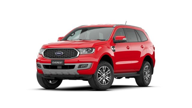 New Ford Everest UA II 2021.25MY Trend Deer Park, 2020 Ford Everest UA II 2021.25MY Trend True Red 10 Speed Sports Automatic SUV