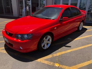 2005 Ford Falcon BA Mk II XR6 Red 4 Speed Sports Automatic Sedan.