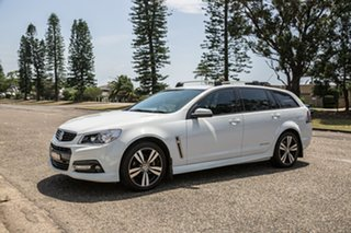 2015 Holden Commodore VF MY15 SV6 Sportwagon Storm White 6 Speed Sports Automatic Wagon.
