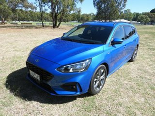 Ford Focus ST Line Blue 8 Speed Automatic Wagon.