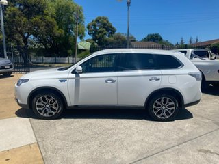 2014 Mitsubishi Outlander ZJ MY14.5 PHEV AWD Aspire White 1 Speed Automatic Wagon Hybrid