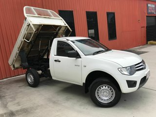 2011 Mitsubishi Triton MN MY11 GLX 4x2 White 5 Speed Manual Cab Chassis.