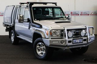 2015 Toyota Landcruiser VDJ79R MY12 Update GXL (4x4) Silver Pearl 5 Speed Manual Double Cab Chassis.