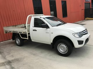 2011 Mitsubishi Triton MN MY11 GLX 4x2 White 5 Speed Manual Cab Chassis