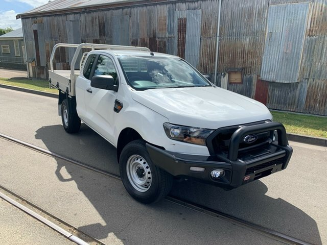 Used Ford Ranger PX MkII 2018.00MY XL Launceston, 2018 Ford Ranger PX MkII 2018.00MY XL White 6 Speed Manual Cab Chassis