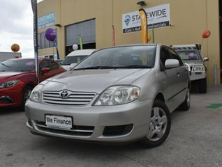 2006 Toyota Corolla ZZE122R Ascent Silver 5 Speed Manual Sedan.
