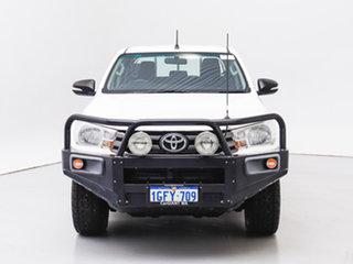 2017 Toyota Hilux GUN126R SR (4x4) White 6 Speed Manual Dual Cab Chassis.