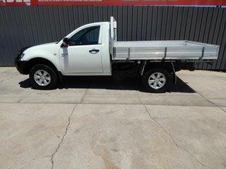 2012 Mitsubishi Triton MN MY12 GLX White 5 Speed Manual Cab Chassis.