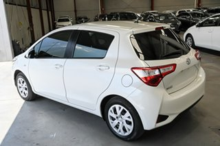 2019 Toyota Yaris NCP130R Ascent Pearl White 4 Speed Automatic Hatchback