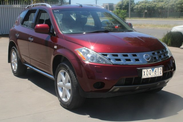 Used Nissan Murano Z51 TI West Footscray, 2009 Nissan Murano Z51 TI Maroon 6 Speed Constant Variable Wagon